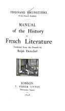 Manual of the History of French Literature