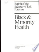 Report Of The Secretary S Task Force On Black Minority Health Cancer