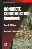 Concrete Construction Handbook Book PDF