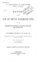 Pdf Report on the Use of Metal Railroad Ties and on Preservative Processes and Metal Tie-plates for Wooden Ties
