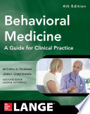 Behavioral Medicine A Guide For Clinical Practice 4 E Book PDF