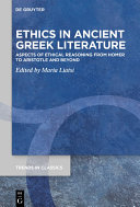 Pdf Ethics in Ancient Greek Literature Telecharger