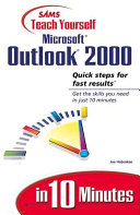 Sams Teach Yourself Microsoft Outlook 2000 In 10 Minutes