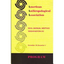 American Anthropological Association Abstracts 2005