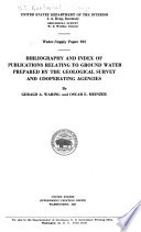 Bibliography and Index to Publications Relating to Ground Water Prepared by the Geological Survey and Cooperating Agencies