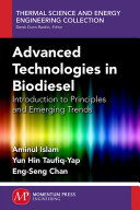 Advanced Technologies In Biodiesel Book PDF