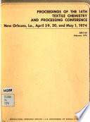 Proceedings of the 14th Textile Chemistry and Processing Conference