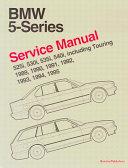 Bentley BMW 5 Series 1989 95 Service Manual