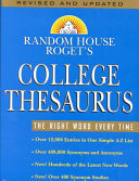 Random House Roget s College Thesaurus Book PDF