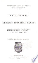 North American Geologic Formation Names Bibliography Synonymy And Distribution