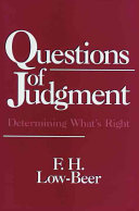 Questions of Judgment