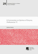 A Commentary on Quintus of Smyrna  Posthomerica 13