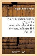 Nouveau Dictionnaire de Geographie Universelle