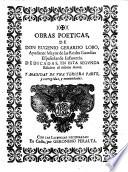 Obras poeticas     en esta segunda edicion     a  adidas de una tercera parte  y corregidas  y enmendadas
