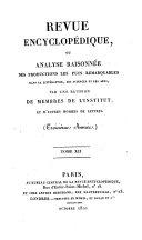 Revue encyclopédique, ou Analyse raisonnée