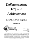 Differentiation  RTI  and Achievement  How They Work Together