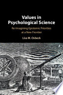 Values in Psychological Science Book PDF