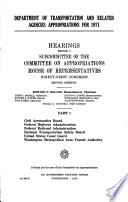 Department of Transportation and Related Agencies Appropriations for 1971