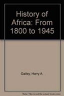 History of Africa: From 1800 to 1945