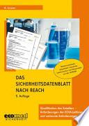 Das Sicherheitsdatenblatt nach REACH mit CD-ROM