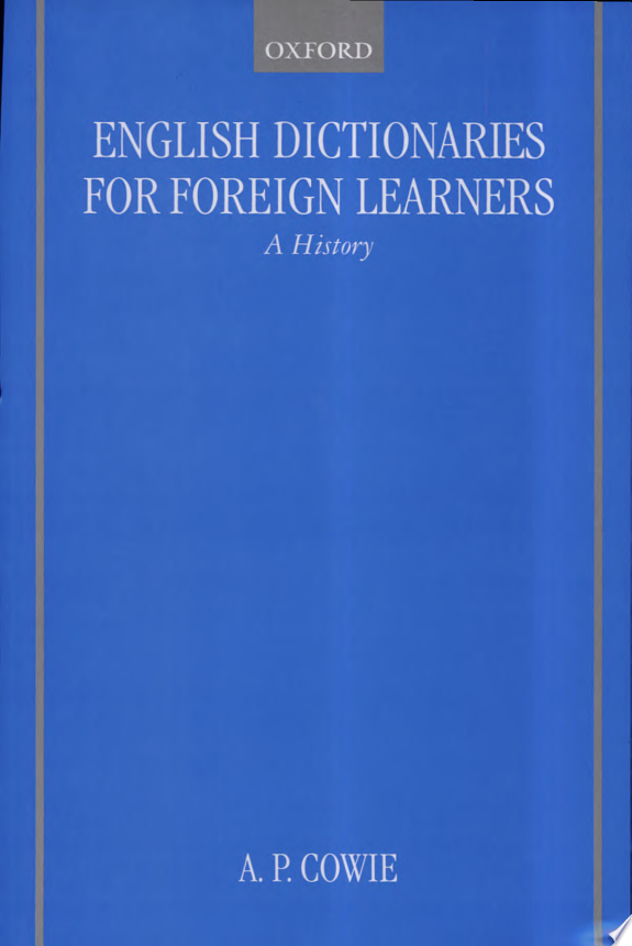 English Dictionaries for Foreign Le