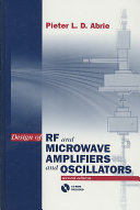 Design of RF and Microwave Amplifiers and Oscillators