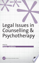 Legal Issues In Counselling Psychotherapy Book