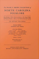 The Frank C. Brown Collection of NC Folklore [Pdf/ePub] eBook