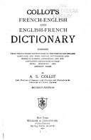 Collot's French-English and English-French Dictionary