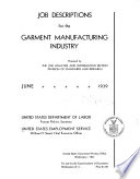 Job Descriptions for the Garment Manufacturing Industry Book