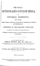 Pdf The Royal Dictionary-cyclopædia, for Universal Reference ...