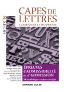 Pdf CAPES de Lettres - 3éd. Telecharger