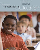 Introduction to Research in Education Book