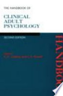 The Handbook Of Clinical Adult Psychology
