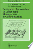 Ecosystem Approaches To Landscape Management In Central Europe Book PDF