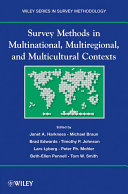 Survey Methods in Multicultural, Multinational, and Multiregional Contexts