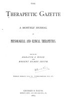 The Therapeutic Gazette