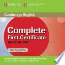 Complete First Certificate Class Audio CD Set