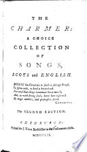 The charmer  a choice collection of songs  English and Scots