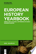 Dress and Cultural Difference in Early Modern Europe