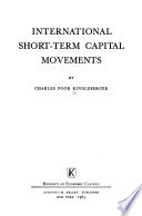 International short term capital movements