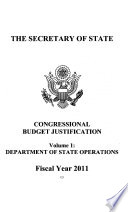 State  Foreign Operations  and Related Programs Appropriations for 2011 Book