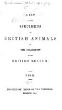 List of the specimens of British animals in the collection ...