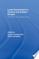 Local Government In Central And Eastern Europe Book
