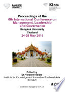 Icmlg 2018 6th International Conference On Management Leadership And Governance Book PDF