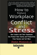 How to Reduce Workplace Conflict and Stress EasyRead Edition