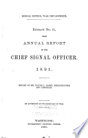 Extract No. 11, from Annual Report of the Chief Signal Officer, 1891: Report of Mr. Oliver L. Fassig, Bibliographer and Librarian