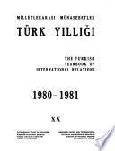 Milletlerarası münasebetler Türk yıllığı