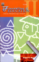 Foundations of Education Vol ii  2005 Ed