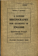 A concise bibliography for students of English : systematically arranged